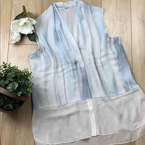 Elie TAHARI silk sleeveless tunic top